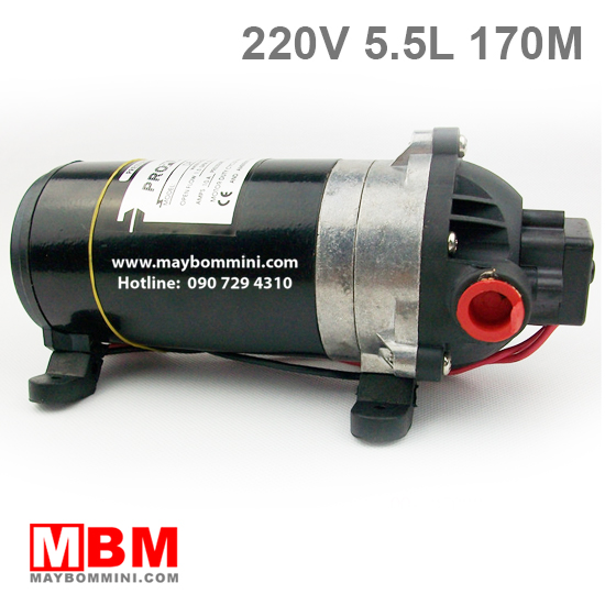 may bom ap luc mini 220v