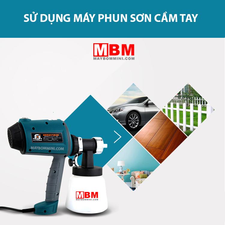 Su Dung May Phun Son Cam Tay