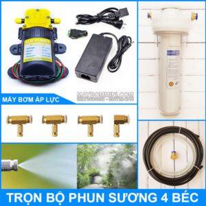 Bo Phun Suong Tuoi Lan Lam Mat 12V 30W 4 Bec