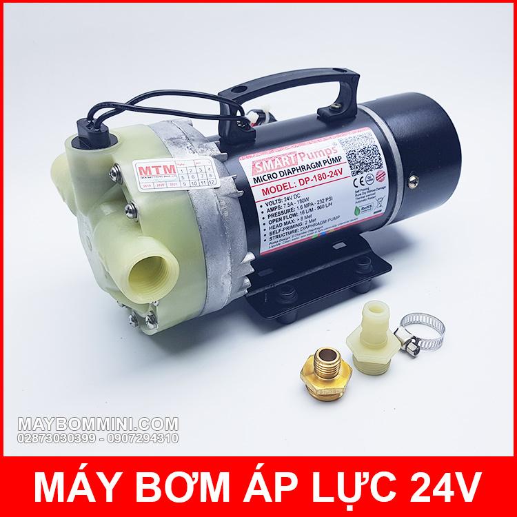 Bom Nuoc Mini Ap Luc 24v 180w
