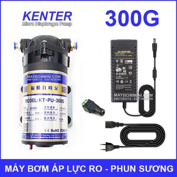 May Bom Ap Luc 24V Phun Suong RO 300G Kem Nguon
