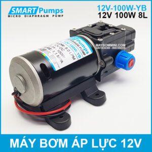 May Bom Ap Luc Mini Smarpumps 12V 100W 8L Tu Dong