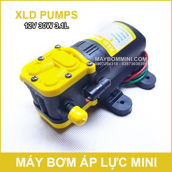 May Bom Mini 12v 30w Gia Re