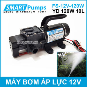 May Rua Xe Ve Sinh May Lanh Mini 12V 120W Smartpumps