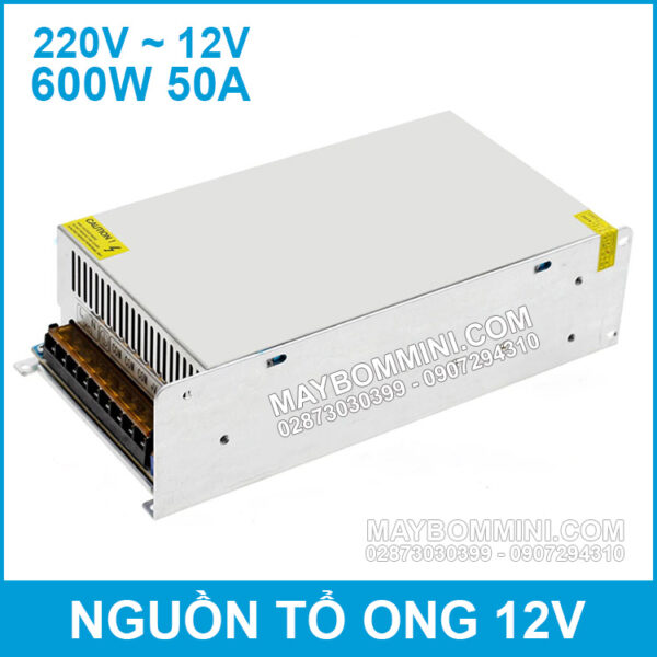 Nguon To Ong 12V 50A 600W