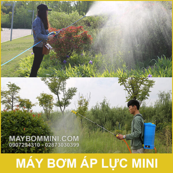 Phun Xit Thuoc Bang May Bom Mini 12V