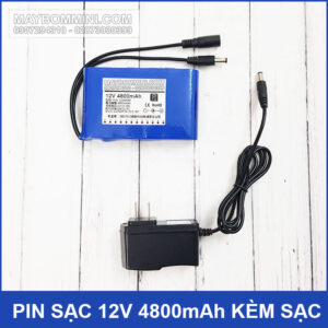 Pin Sac 12V 4800mah Chinh Hang Kem Sac