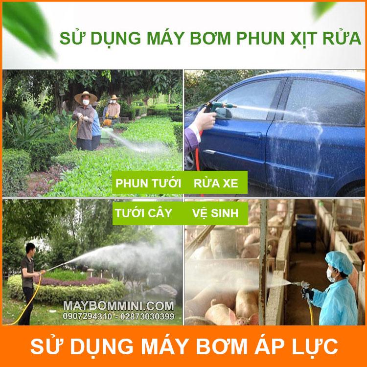 Su Dung May Bom Phun Xit Rua
