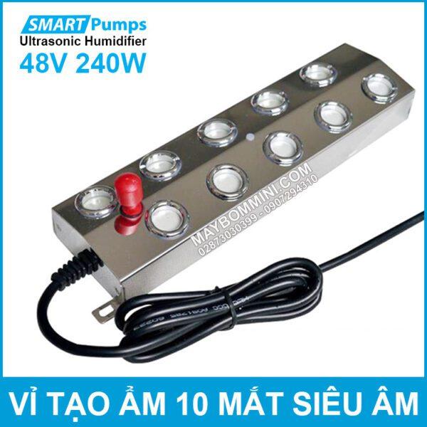 Vi Tao Am 10 Mat Bang Song Sieu Am Num Do 48V 240W Smartpumps Humidifier Ultrasonic Industrial