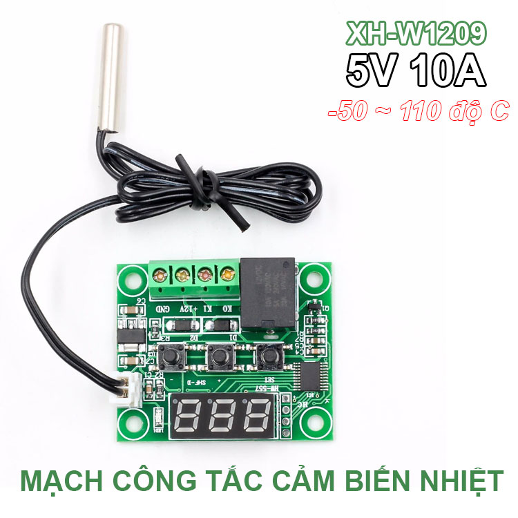 W1209 DC 12V LED Digital Thermostat Temperature Control