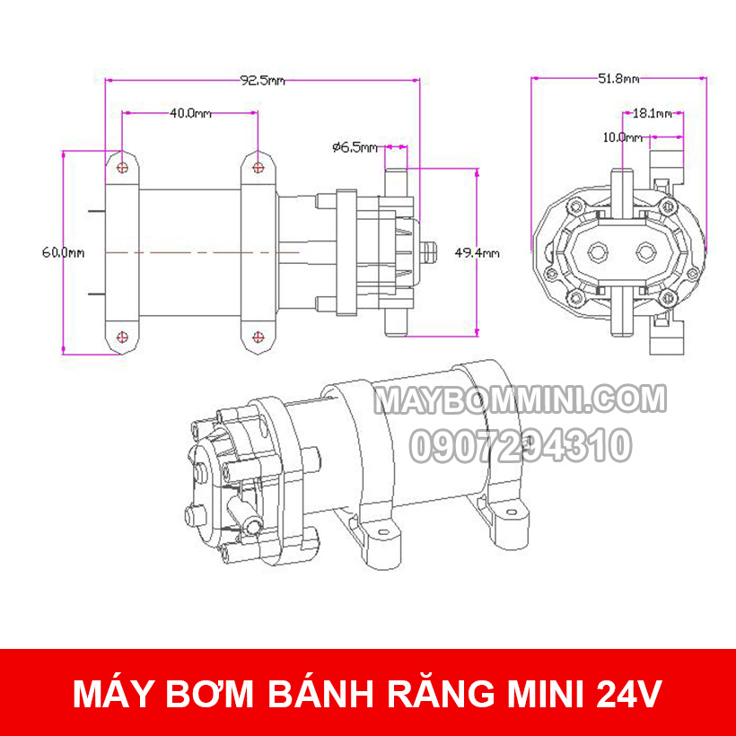Ban Ve May Bom Mini Banh Rang