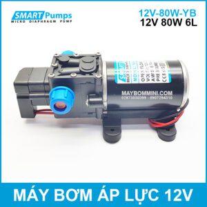 May Bom Ap Luc Mini 12V 80W Tu Dong