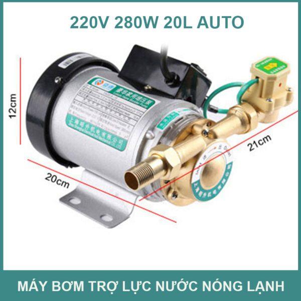 May Bom Nuoc 220v 280w 25l Tro Luc Tang Ap
