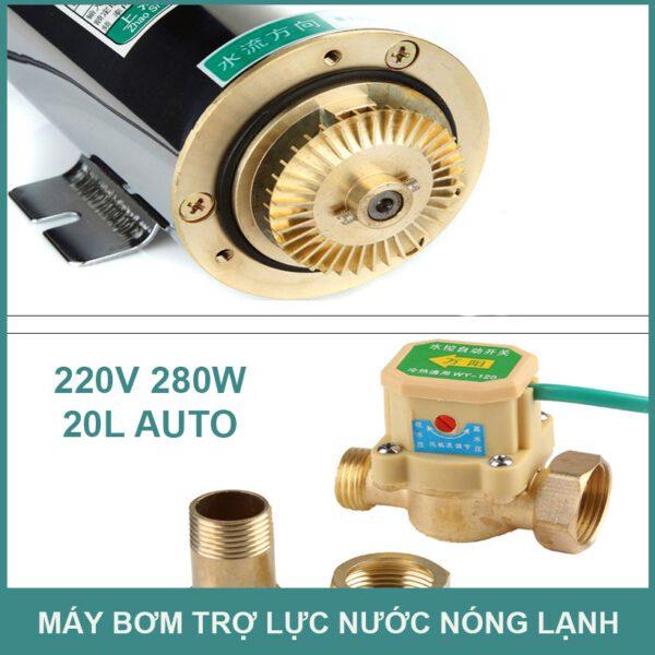 May Bom Tro Luc Nuoc Nong Nang Luong Mat Troi