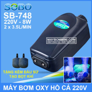 May Tao Oxy Ho Ca Be Ca 220v SB 748 SOBO
