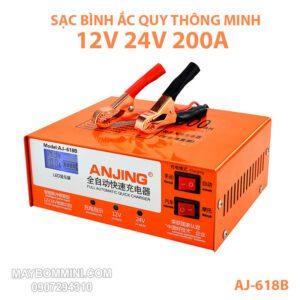 Bo Sac Binh Ac Quy Oto Xe May Xe Dap Dien AJ 618B