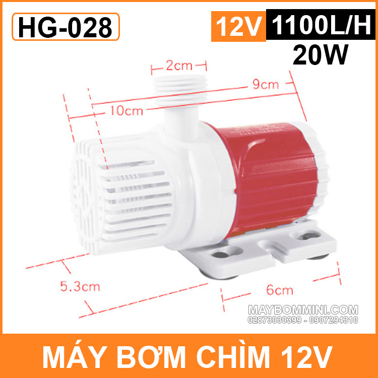 Kich Thuoc May Bom Chim 12v HG 028