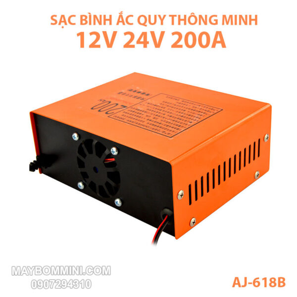 Sac Ac Quy 12v 24v 200Ah AJ 618B Cao Cap Gia Re