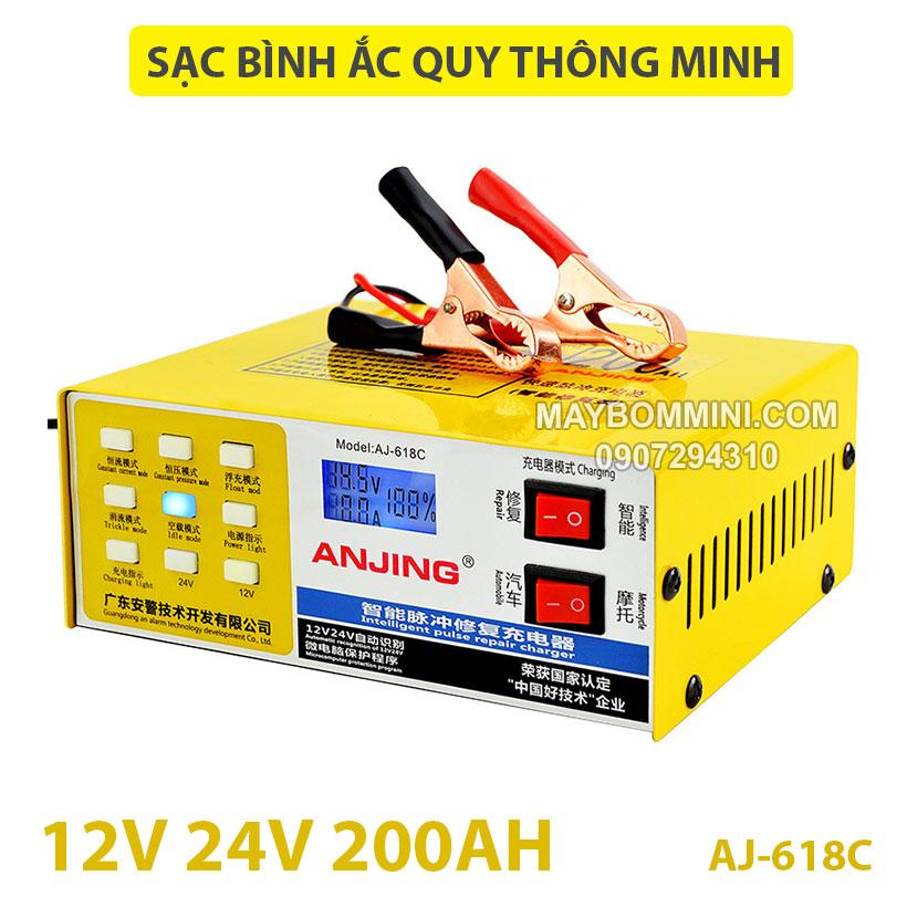 Sac Binh Ac Quy Thong Minh 12v 24v AJ 618C