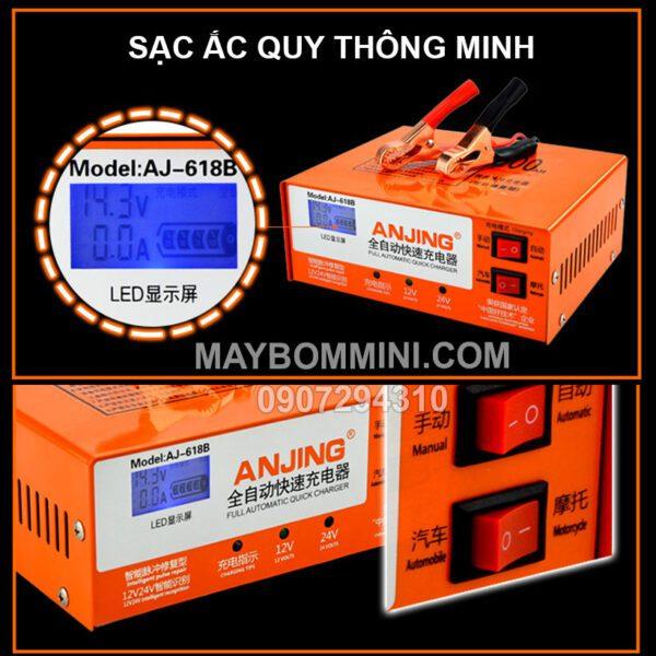 Sac Binh Ac Quy Thong Minh AJ 618B