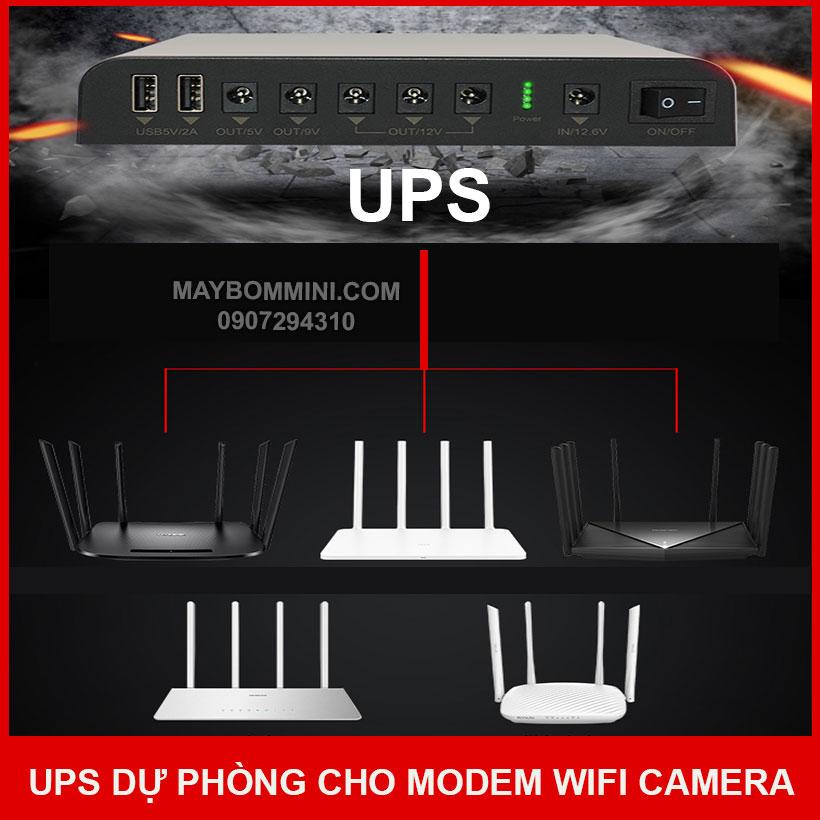 Su Dung UPS Cho Modem Wifi Camera