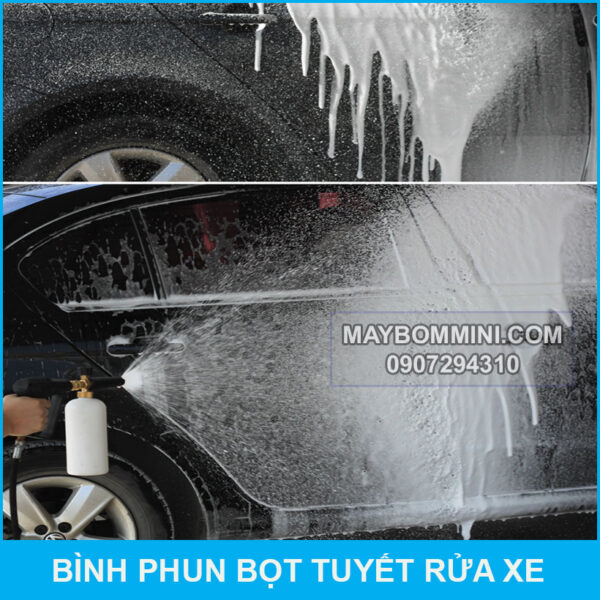 Su Dung Binh Phu Bot Tuyet Voi May Rua Xe