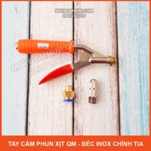 Tay Cam Phun Xit QM Bec Inox Chinh Tia Gia Re