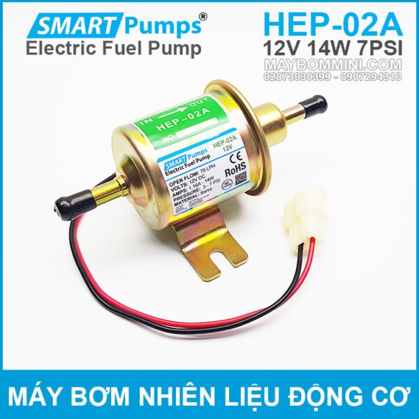 May Bom Dong Co Xang Dau 12V HEP 02A Smartpumps