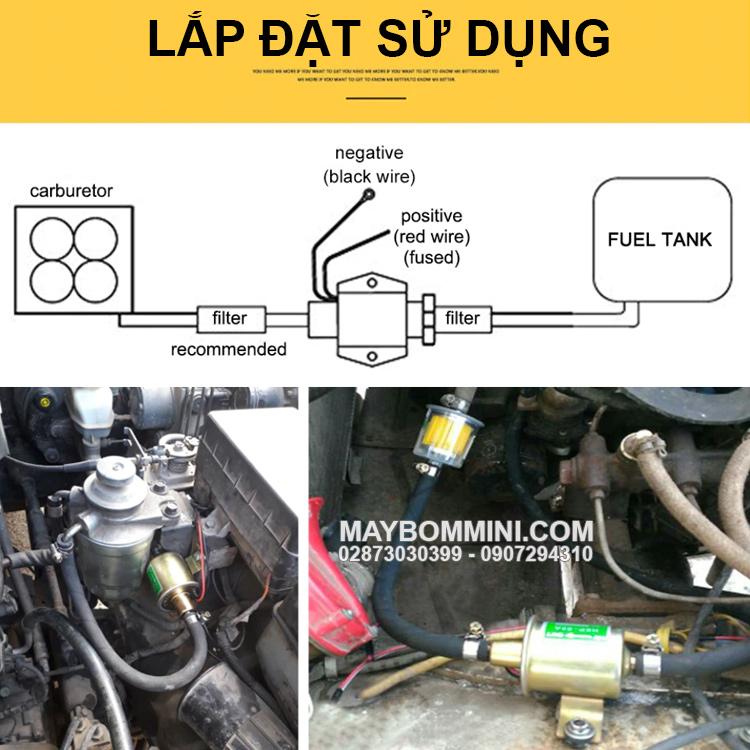 Lap Dat Va Su Dung May Bom Dong Co Xang Dau 12v 24v