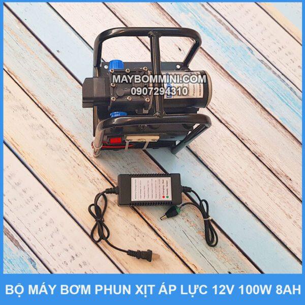 May Bom Ap Luc Mini Dung Binh Ac Quy 12v