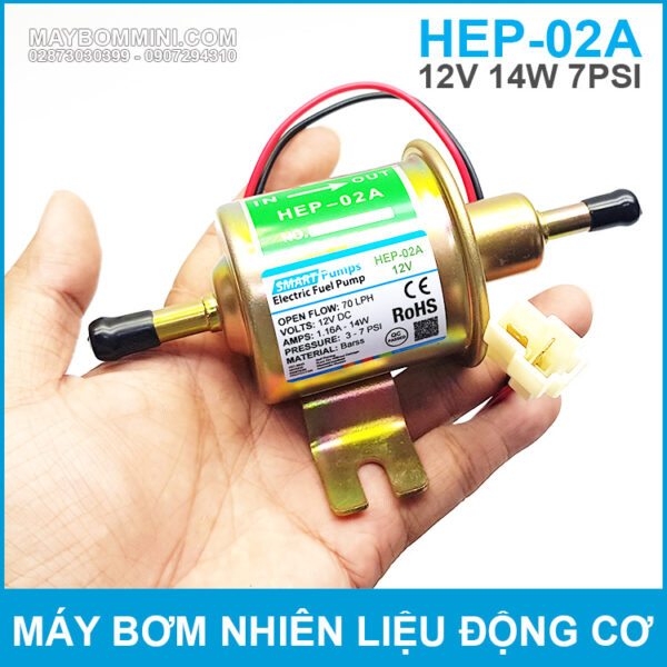 May Bom Tro Luc Xang Dau Dong Co Xe 12V