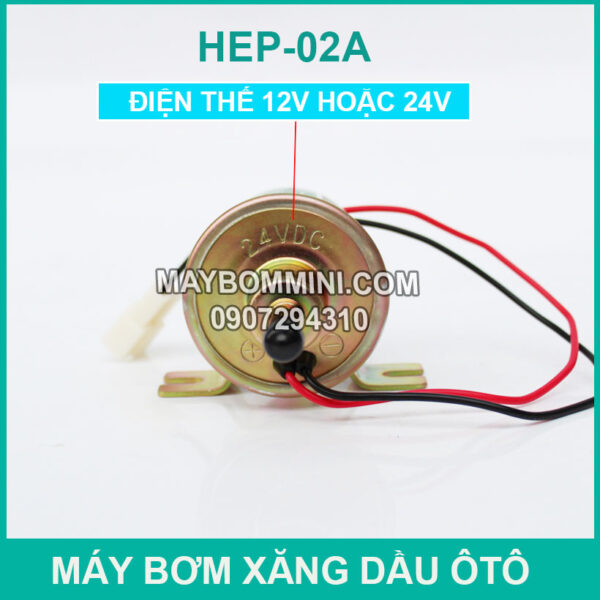 May Bom Xang Dau Mini 12v 24v Dc