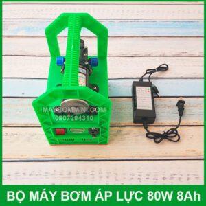 Bo May Bom Mini Ap Luc 12v Binh Ac Quy