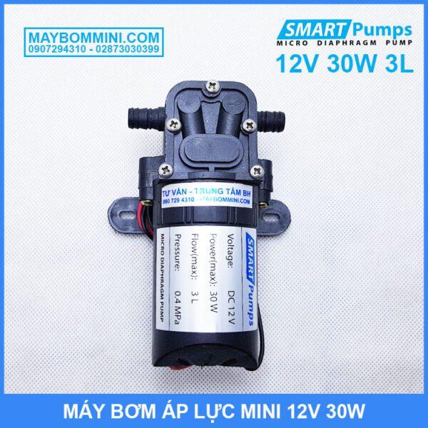 Bom Nuoc Mini 12V 30W Smartpumps Khong Cong Tac