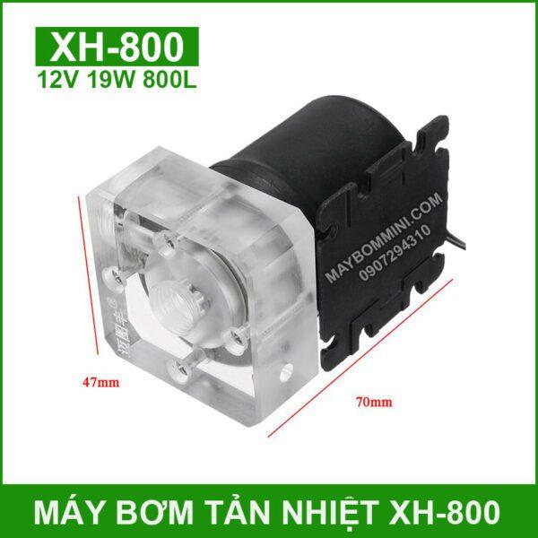 Kich Thuoc Bom Nuoc Tuan Hoan Tan Nhiet XH800