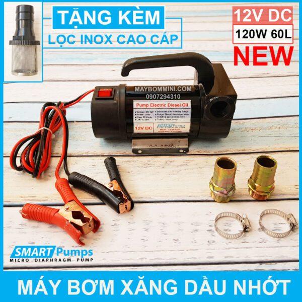 May Bom Xang Dau Nhot 12V 120W 60L Smartpumps