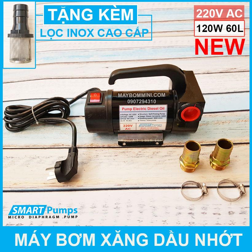 May Bom Xang Dau Nhot 220V 120W 60L Smartpumps