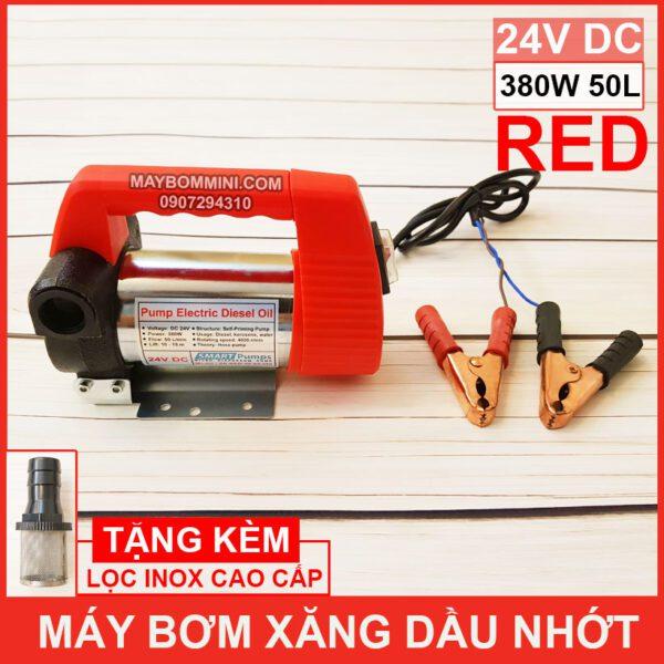 May Bom Xang Dau Nhot 24V 380W 50L Red