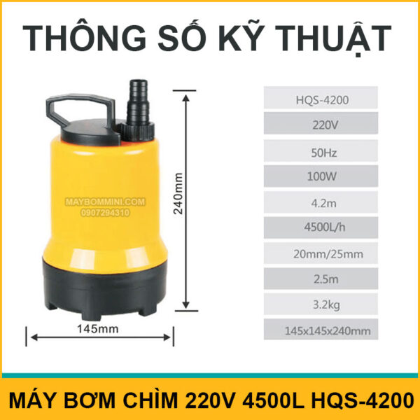 Thong So Ky Thuat May Bom Chim HQS 4200