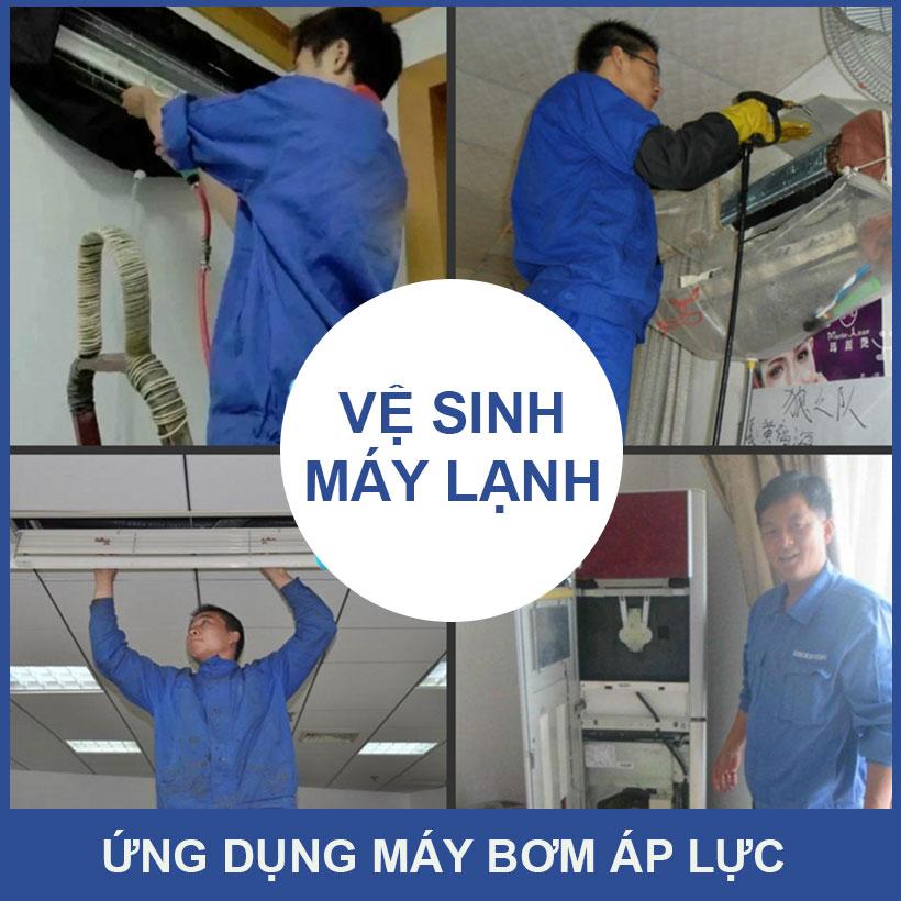 Ve Sinh May Lanh Bang May Ap Luc Mini