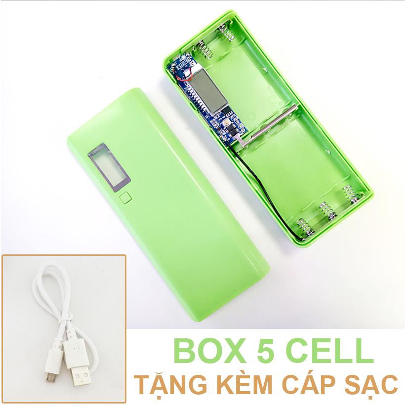 Pin Du Phong 5 Cell Mau Xanh La New