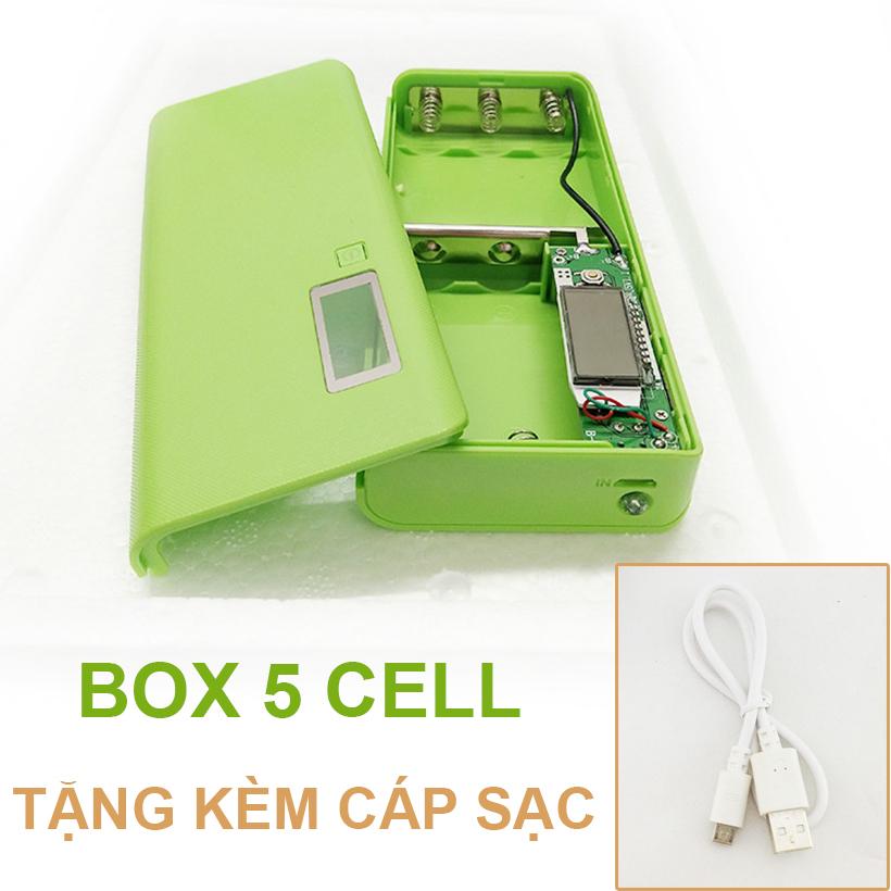 Pin Du Phong 5 Cell Mau Xanh La