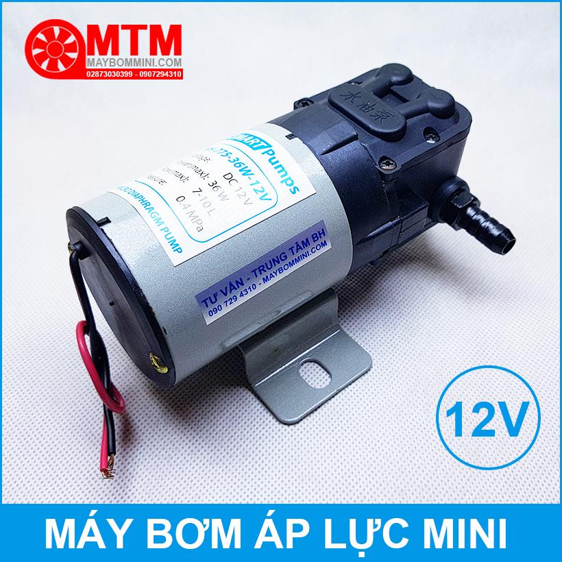May Bom Mini Ap Luc 12v Chin Hang Gia Re