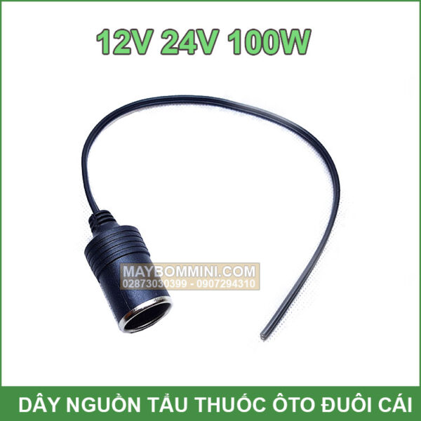 Day Nguon Oto 12v 24v 100W