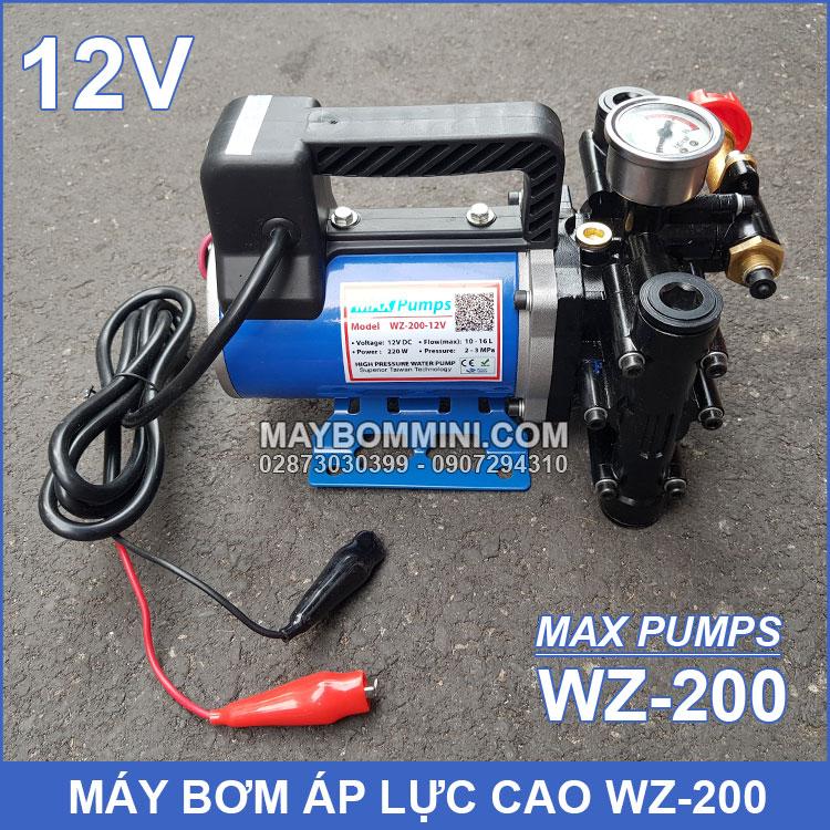 May Bom Ap Luc Cao 12V WZ 200 Maxpumps