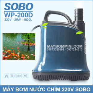 May Bom Nuoc Chim SOBO 220V WP 200D 2019