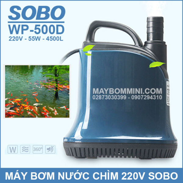 May Bom Nuoc Chim SOBO 220V WP 500D 2019