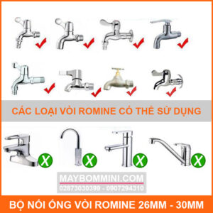 VOI ROMINE CO THE DUNG NOI ONG NUOC