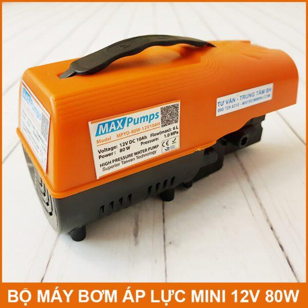 Bom Nuoc Mini Ap Luc YD 12V 80W