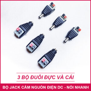 Jack Cam Nguon Dien Adapter Noi Nhanh 3 Bo Lazada